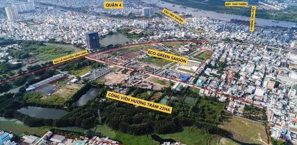 Bản vẽ dự án Eco Green Saigon Căn hộ Eco Green Saigon thiết kế hiện đại, mặt tiền đường Nguyễn Văn Linh.