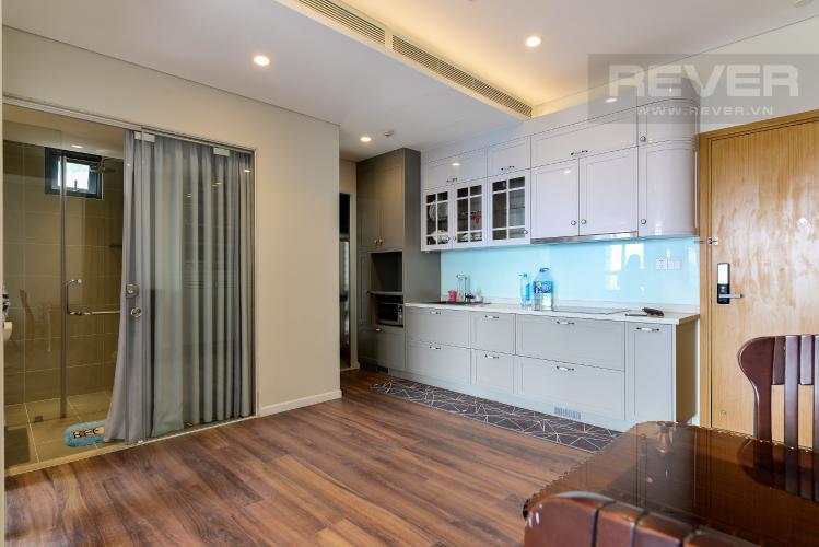 Bếp Cho thuê căn hộ Diamond Island - Đảo Kim Cương 1PN, tầng trung, tháp Hawaii, đầy đủ nội thất, view hồ bơi