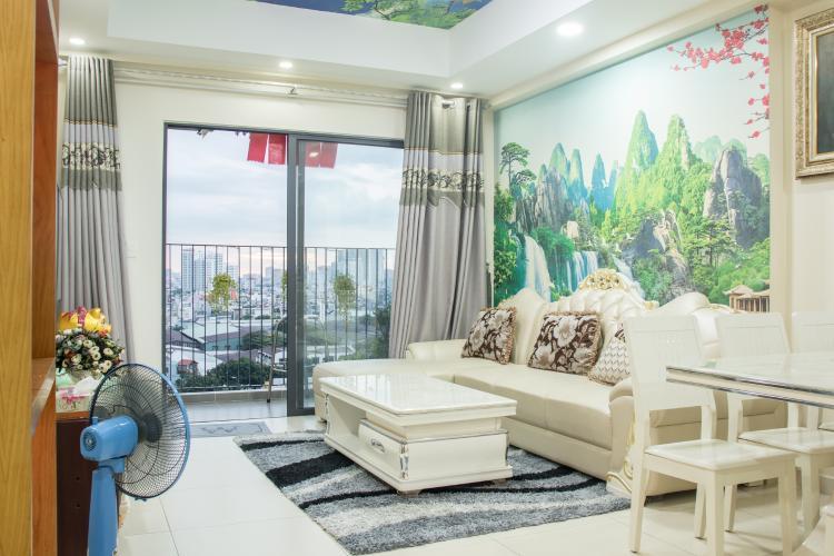 Phòng Khách Bán căn hộ M-One Nam Sài Gòn 3 phòng ngủ, tầng thấp, tháp T2, đầy đủ nội thất