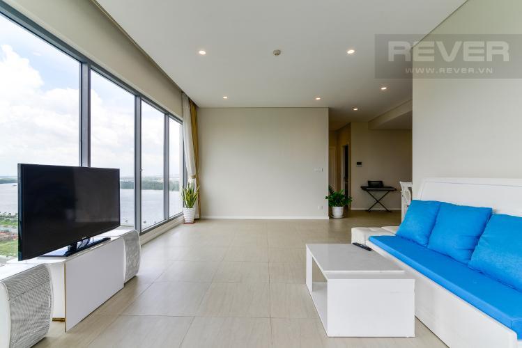 Phòng Khách căn hộ Diamond Island - Đảo Kim Cương Bán căn hộ Diamond Island - Đảo Kim Cương 2PN, tháp Bora Bora, nội thất cơ bản, căn góc, view sông thoáng mát
