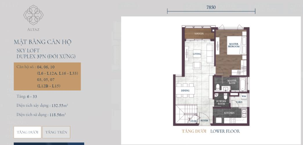 Mặt bằng căn hộ Căn hộ Feliz en Vista Căn hộ Feliz en Vista tầng 12B nội thất cơ bản