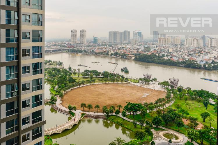 View Cho thuê căn hộ Vinhomes Central Park tầng cao, 2PN đầy đủ nội thất view sông