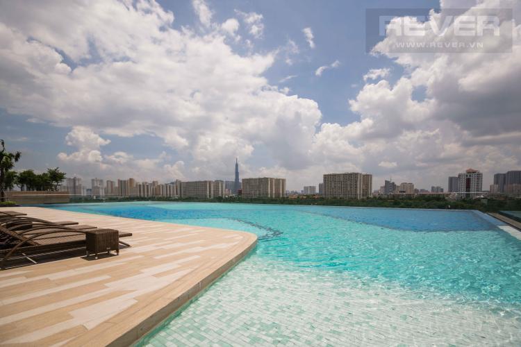 Tiện Ích Hồ Bơi Bán căn hộ The Sun Avenue 2PN, tầng trung, block 4, hướng Đông Bắc đón gió