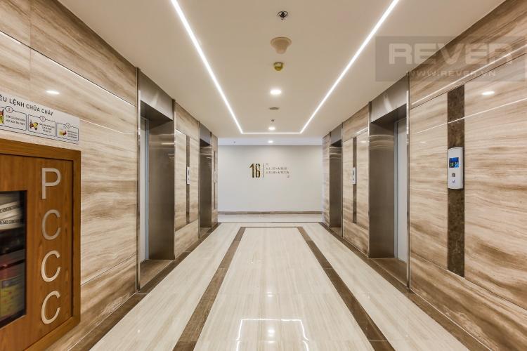 Hành Lang Cho thuê căn hộ Masteri Millennium tầng cao, 2PN, đầy đủ nội thất