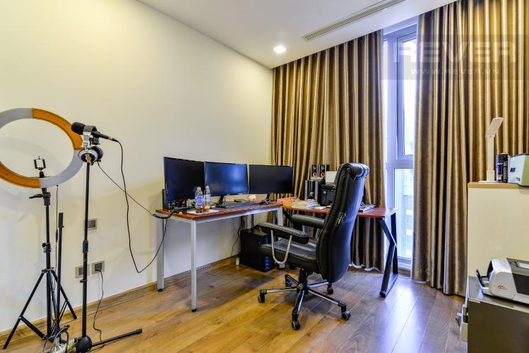 Phòng Làm Việc Căn hộ Vinhomes Central Park tầng cao tháp Park 2, 3PN nội thất đầy đủ