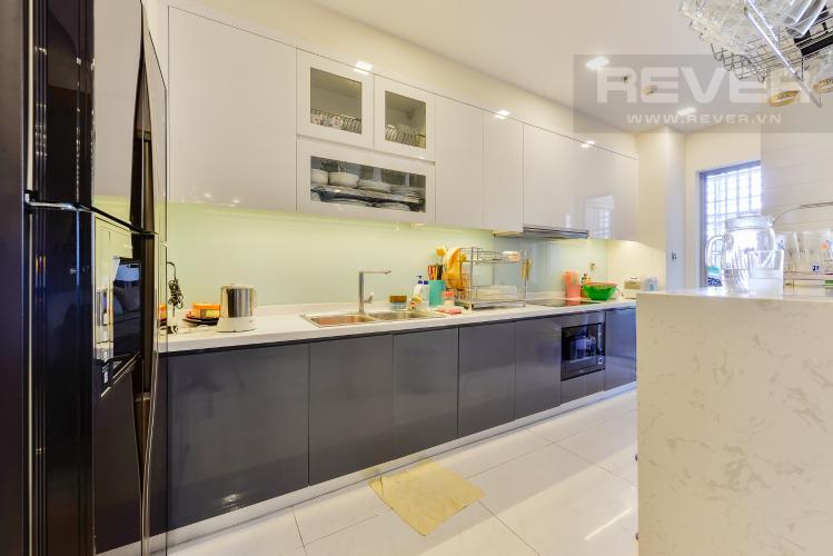 Bếp Cho thuê căn hộ Vinhomes Central Park tầng thấp, 4PN, đầy đủ nội thất