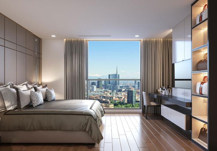 phòng ngủ Eco Xuân Căn hộ Eco Xuân tầng 12B cửa hướng Tây Bắc, thiết kế hiện đại