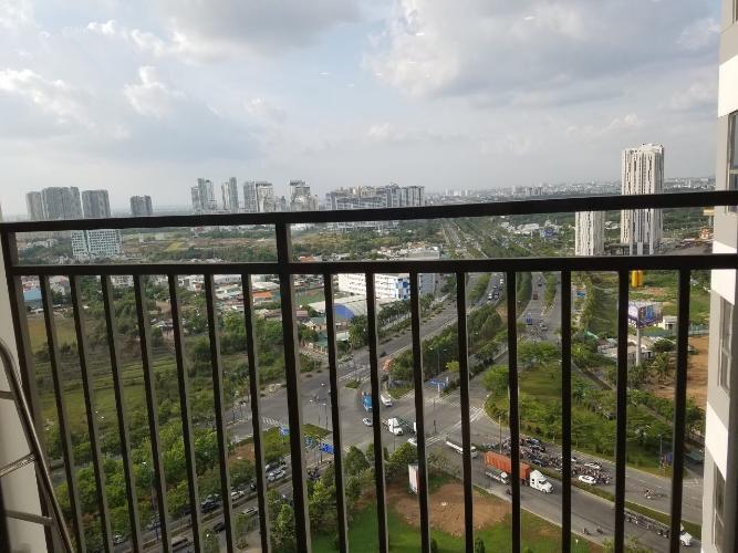 Ban công căn hộ The Sun Avenue Bán căn hộ view thành phố - The Sun Avenue tầng cao, diện tích 96m2, đầy đủ nội thất.