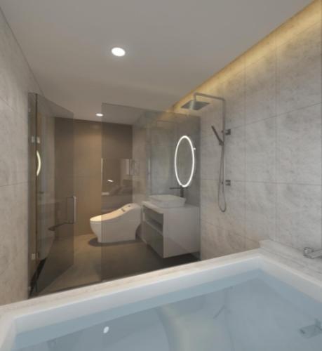 Phòng vệ sinh căn hộ Riviera Point Căn hộ Riviera Point bàn giao đầy đủ nội thất, 3 phòng ngủ.