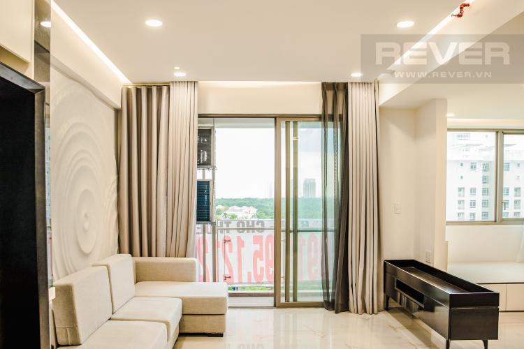 Phòng Khách Bán căn hộ Happy Residence 3PN, tầng thấp, block A, đầy đủ nội thất, view mặt phố