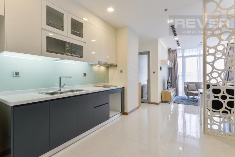Bếp Căn hộ Vinhomes Central Park 2 phòng ngủ tầng cao P6 view Quận 1