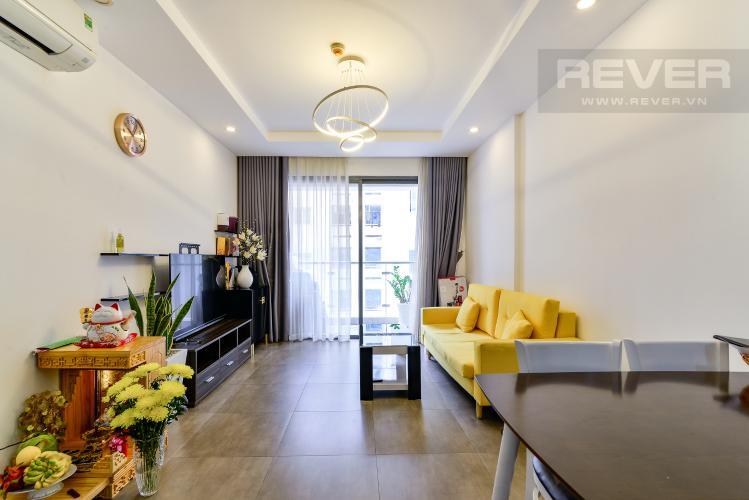 Phòng Khách Cho thuê căn hộ The Gold View 2PN, tầng trung tháp A, đầy đủ nội thất, hướng Tây Nam