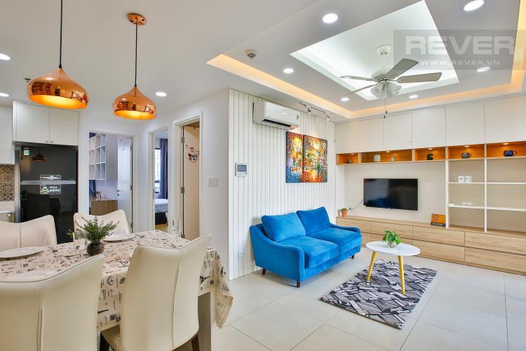Phòng Khách Cho thuê căn hộ Masteri Thảo Điền tầng trung, 2PN, đầy đủ nội thất, view hồ bơi