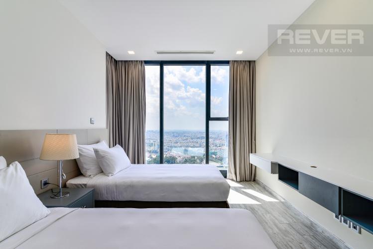 Phòng Ngủ 3 Căn hộ Vinhomes Golden River tầng cao, tháp A1, gồm 3 phòng ngủ, 2 phòng tắm, full nội thất