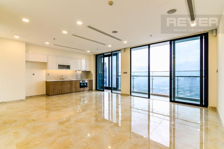 Phòng Khách Căn hộ Vinhomes Golden River 4 phòng ngủ tầng cao A3 hướng Tây Bắc