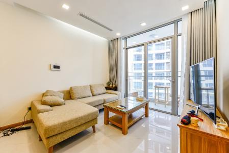 Căn hộ Vinhomes Central Park 1 phòng ngủ tầng cao P7 thiết kế đẹp