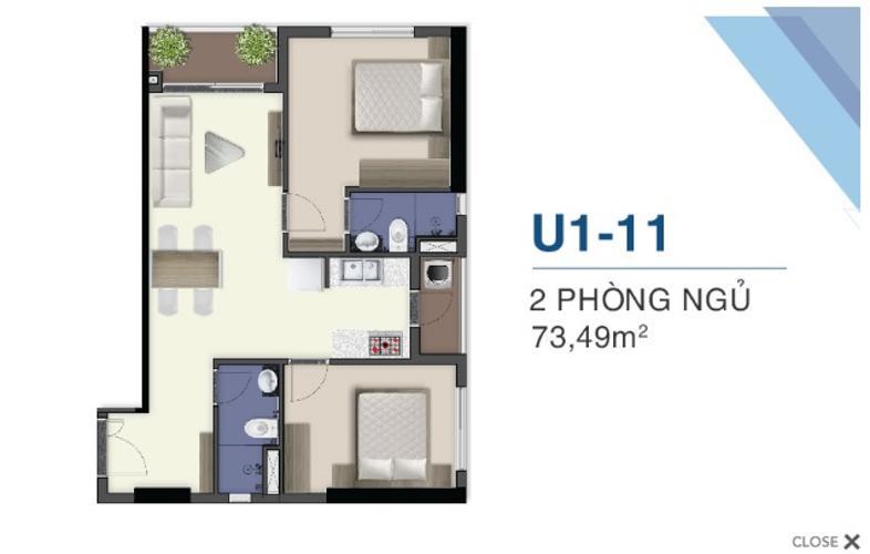 Mặt bằng nội thất Q7 Sài Gòn Riverside Căn hộ Q7 Saigon Riverside tầng 31, view nội khu.