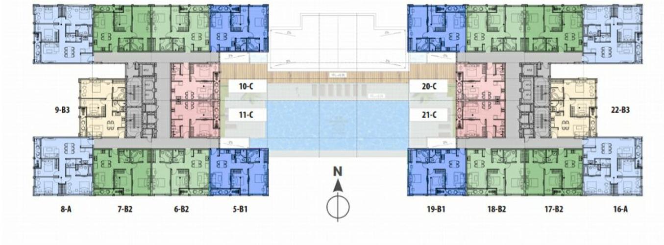 Căn hộ JAMONA HEIGHTS Căn hộ Jamona Heights tầng trung, diện tích 45m2, nội thất cơ bản