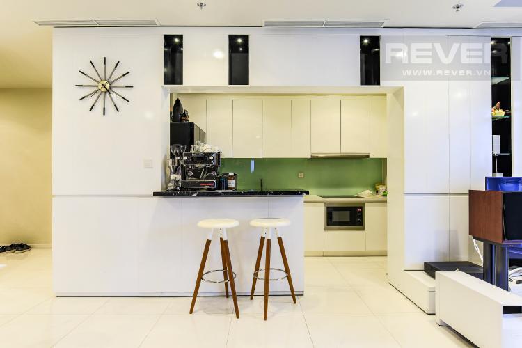 Phòng bếp Căn góc Vinhomes Central Park tầng cao Central 3 view sông