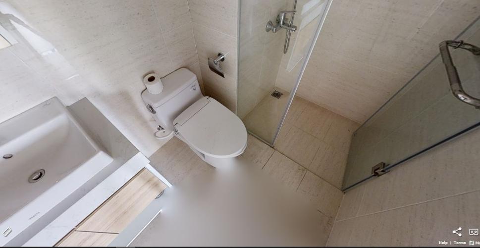 Toilet căn hộ NEW CITY THỦ THIÊM Cho thuê căn hộ New City Thủ Thiêm 2PN, tầng thấp, đầy đủ nội thất, ban công Tây Bắc
