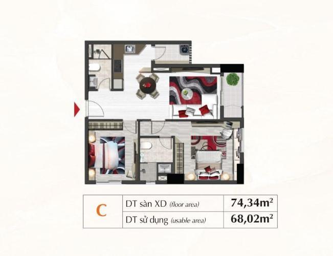 Layout căn hộ Saigon South Residence Căn hộ Saigon South Residences tầng thấp, đầy đủ nội thất