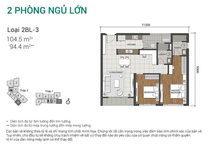 Căn hộ 2 phòng ngủ Căn góc Estella Heights tầng trung T2 nhà mới 100%, chưa ở