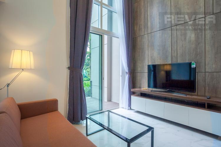 Phòng Khách Duplex 2 phòng ngủ Vista Verde tầng thấp T2 đầy đủ nội thất