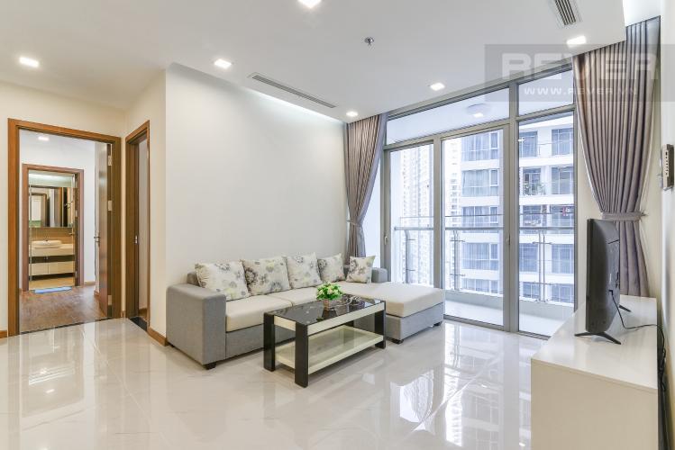 Phòng Khách Căn hộ Vinhomes Central Park 2 phòng ngủ tầng trung P7 đầy đủ nội thất