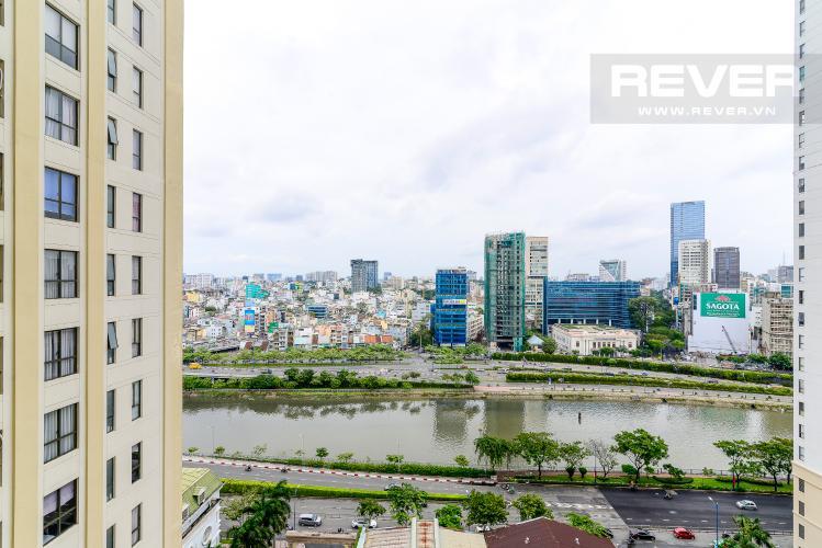 View Cho thuê căn hộ Icon 56 3PN, tầng trung, đầy đủ nội thất, view kênh Bến Nghé