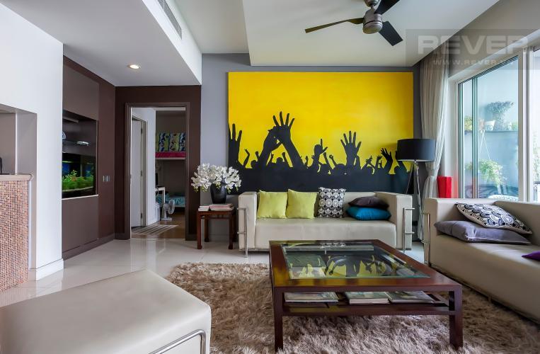 Phòng Khách Căn hộ Estella Residence 3 phòng ngủ tầng thấp view hồ bơi