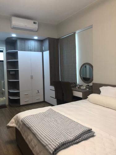 Phòng ngủ Masteri An Phú Quận 2 Căn hộ Masteri An Phú tầng cao nội thất đầy đủ, view sông và thành phố