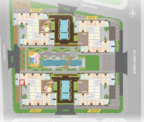 layout căn hộ Q7 Saigon Riverside Bán căn hộ tầng cao Q7 Saigon Riverside nhìn về khu Nhà Bè.