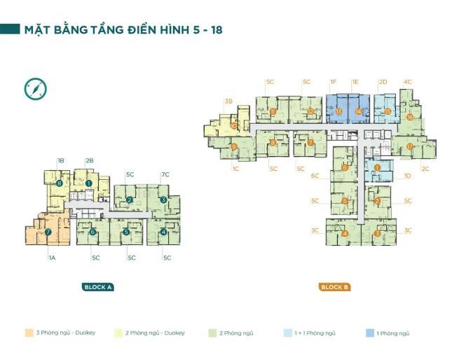 layout dự án D'Lusso quận 2 Căn hộ D'Lusso 1 phòng ngủ, view  thoáng mát đón sáng.