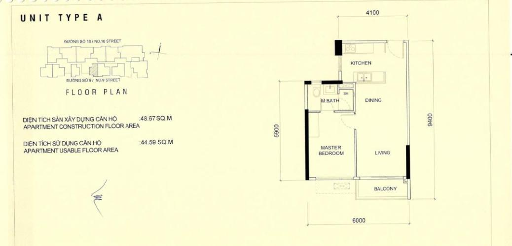 layout  Căn hộ Q2 Thảo Điền tầng cao nội thất cơ bản, dọn vào ở ngay.