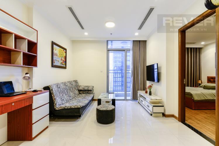 Phòng Khách Căn hộ Vinhomes Central Park 1 phòng ngủ tầng cao L3 nội thất đầy đủ