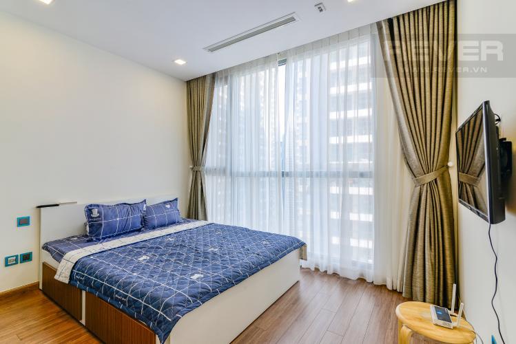 Phòng Ngủ 1 Căn hộ Vinhomes Central Park 2 phòng ngủ tầng cao P4 nội thất đầy đủ