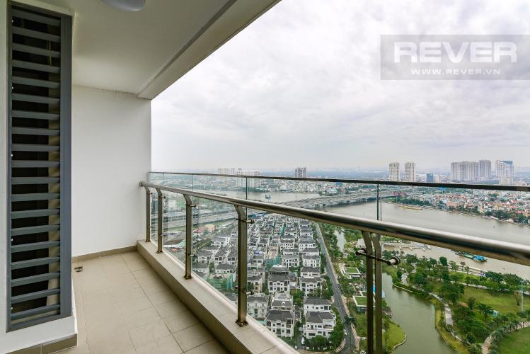 View Balcony Căn hộ Vinhomes Central Park tầng cao, 3PN, view sông Sài Gòn