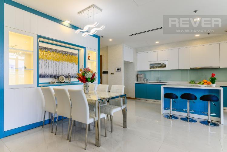 Phòng Ăn & Bếp Căn hộ Vinhomes Central Park 4PN, tầng thấp, đầy đủ nội thất