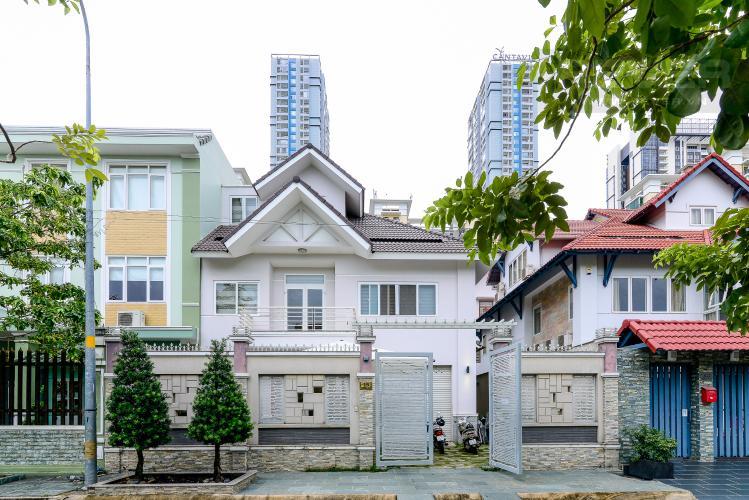 Mặt Tiền Nhà Cho thuê biệt thự Khu dân cư An Phú, hướng Đông Nam, thiết kế sang trọng, đầy đủ nội thất