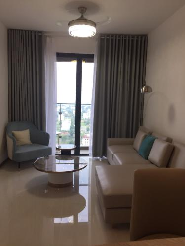 Phòng khách One Verandah Quận 2 Căn hộ One Verandah đầy đủ nội thất, ban công thoáng mát.