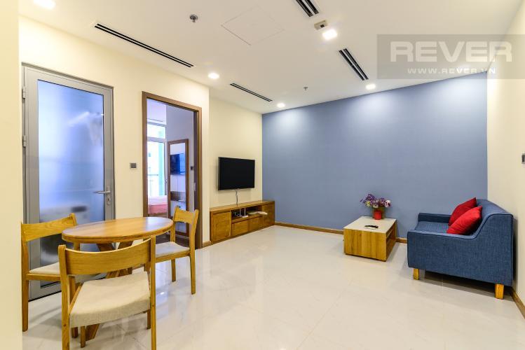 Phòng Khách Căn hộ Vinhomes Central Park tầng trung, 1PN, đầy đủ nội thất, view sông