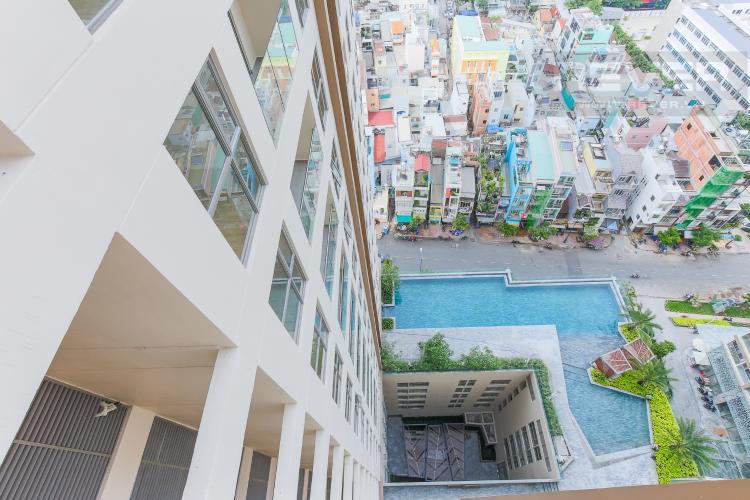 View Căn hộ Masteri Millennium tầng cao, tháp A, 2 phòng ngủ, view hồ bơi