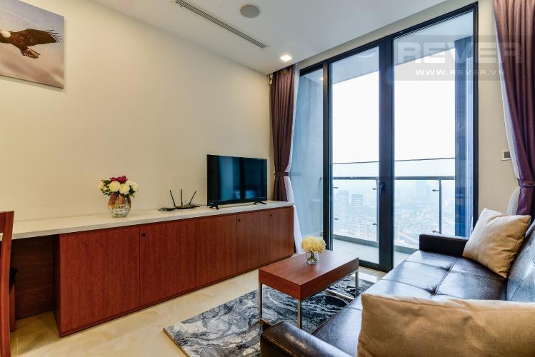 Phòng Khách Căn hộ Vinhomes Golden River tầng cao, tháp The Aqua 1, 1PN, đầy đủ nội thất