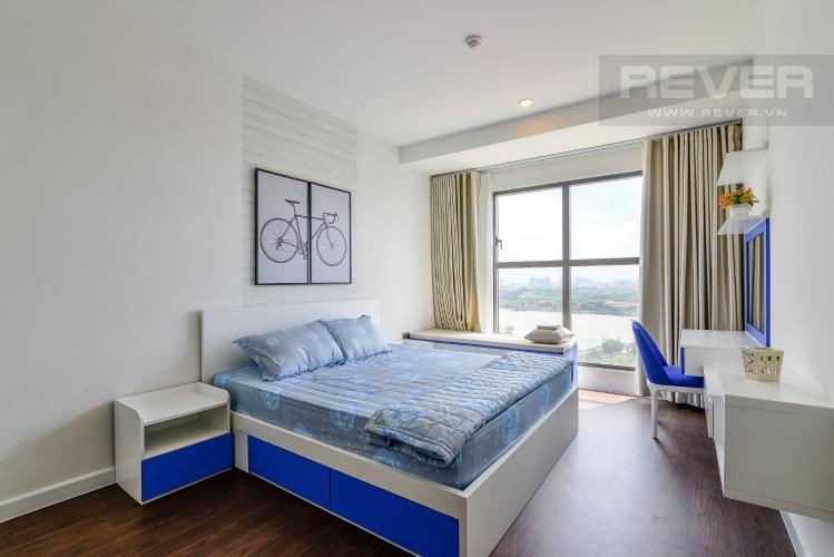Phòng Ngủ 2 Cho thuê căn hộ Saigon Royal 2PN, tháp A, đầy đủ nội thất, view Bitexco và sông Sài Gòn
