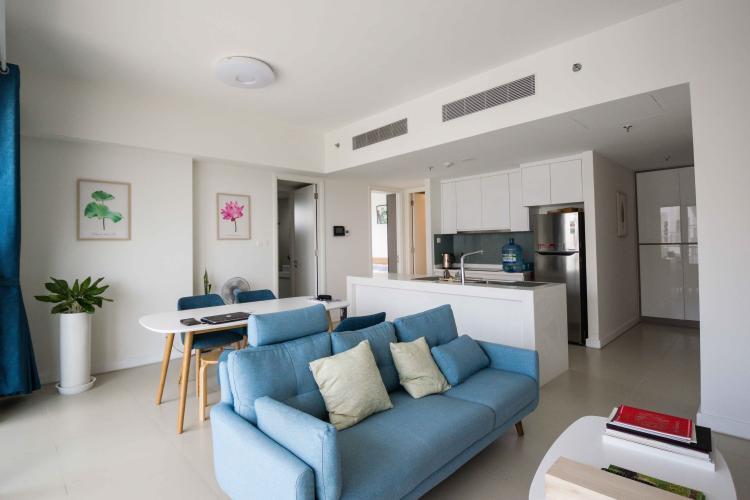 Phòng Khách Cho thuê căn hộ Gateway Thảo Điền tầng cao 2 phòng ngủ, đầy đủ nội thất, view sông đẹp