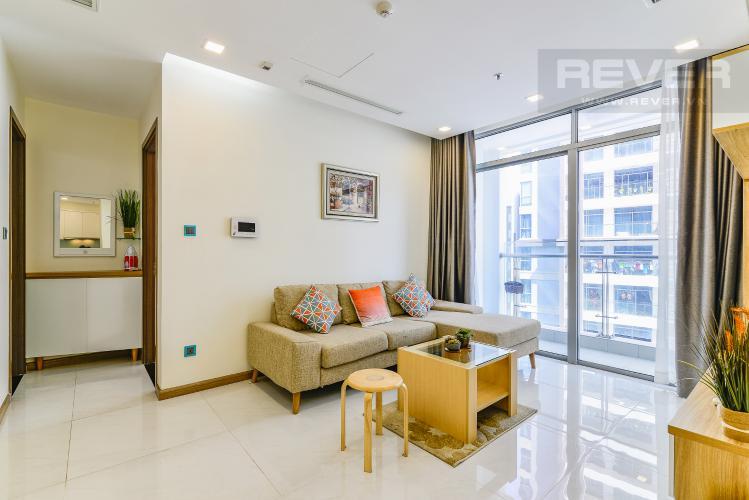 Phòng Khách Căn hộ Vinhomes Central Park 2 phòng ngủ tầng cao P4 nội thất đầy đủ