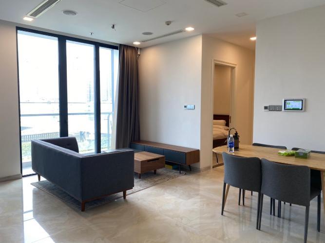 phòng khách Căn hộ Vinhomes Golden River Căn hộ tầng 21 Vinhomes Golden River thiết kế hiện đại, nội thất đầy đủ