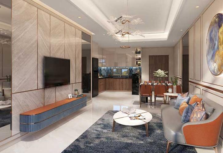 Phòng khách Opal Boulevard Căn hộ Opal Boulevard tầng 14, nội thất cơ bản, 2 phòng ngủ.