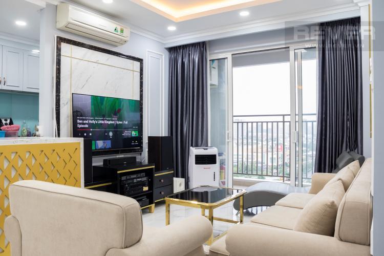 Phòng Khách Bán căn hộ Sunrise CityView 3PN, tầng trung, đầy đủ nội thất, view hồ bơi và đường Nguyễn Hữu Thọ