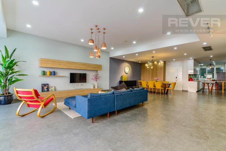 Tổng Quan Penthouse Saigon Pearl tháp Sapphire diện tích 221m2 full nội thất
